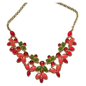 H & M pink and green necklace